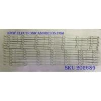 KIT DE LED´S PARA TV VIZIO (12 PIEZAS) /CS-MCPCB-150 / AMTRAN_65_E65_F0_6X7+6X7_3030C_A_7S1P REV.V4 / 0981010DCF / 0262201CNDM65D930 / BA2J-DXMU-2-1 / PANEL LSC650N04-J01 / MODELO E65-F0