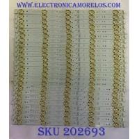 KIT DE LED´S PARA TV LG (24 PIEZAS) / 5835-W65002 / 5835-W65002-LR40/5835-W65002OP40 / 10-10091A-01A / 10-10092A-01A / PANEL´S RDL650WY(QD0-004) / V650DJ4-QS5 / MODELO 65UH5500-UA