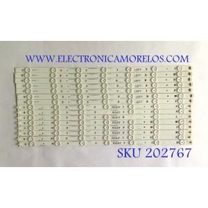"""""""KIT DE LED'S PANASONIC / IC-B-HWBR55D399L / IC-B-HWBR55D399R / 75.P3A02G001 / 75.P3A01G001 / MODELO TC-55AS680U / NOTA IMPORTANTE : KIT CUENTA ORIGINALMENTE 16 PIEZAS ((INCOMPLETO 15 PIEZAS))"""""""