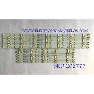 KIT DE LED'S PARA TV (12 PIEZAS) / LBM500P0701 / LBM500P0701-FK-2(R)(5) / LBM500P0701-FJ-2(L)(5) / PANEL'S TPT500U1 / T500QVN03.0 / MODELO NS-50DR710NA17
