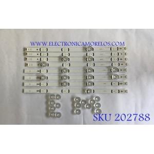 """KIT DE LED'S PARA TV LG (8 PIEZAS) / LG INNOTEK DRT 3.0 39""""_A TYPE REV02_140218 / LG INNOTEK DRT 3.0 39""""_B TYPE REV02_140218 / PANEL'S NC390DUN-VXBP1 / NC390DUN-VXBP2 / MODELOS 39LB5600-UZ / 39LB5800-UG BUSJLJM / 39LB5600-UH / 39LY560H-UA"""