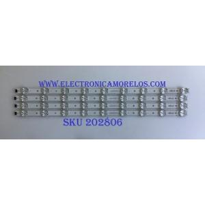 KIT DE LED'S PARA TV LG (4 PIEZAS) / EAV64013802 / SSC_65UK63(BOE)_9LED_SVL650A75_REV1.0_180416 / SSC_Trident_65UK63_S / PANEL'S NC650DQG-ABGX5 / NC650DQG-ABGXA / NC650DQG-ABGXD / MODELOS 65UK6090PUA / 65UK6300PUE / 65UM6900PUA / 65UN6950ZUA.BUSFLKR