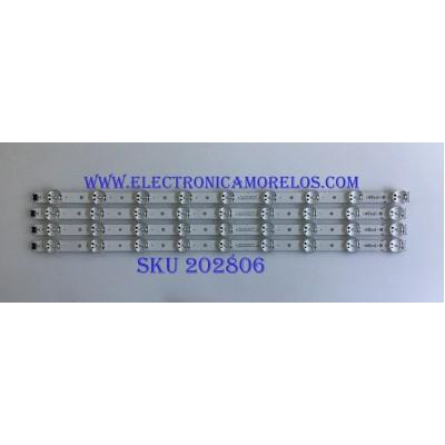KIT DE LED'S PARA TV LG (4 PIEZAS) / EAV64013802 / SSC_65UK63(BOE)_9LED_SVL650A75_REV1.0_180416 / 65UK63 / PANEL NC650DQG-ABGX5 / MODELOS 65UK6090PUA / 65UK6300PUE / 65UM6900PUA