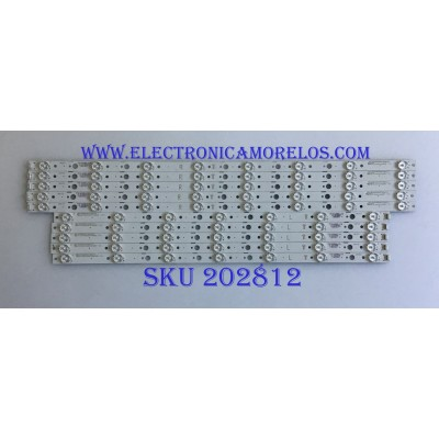 KIT DE LED'S PARA TV LG (10 PIEZAS) / CRH-A6530300508R72H / A6530300507L72H / 209712 / 170919A1F / PANEL'S LC650EGY-(SK)(A5) / RLD650WY / MODELO 65UJ6200-UA BUSYLJR