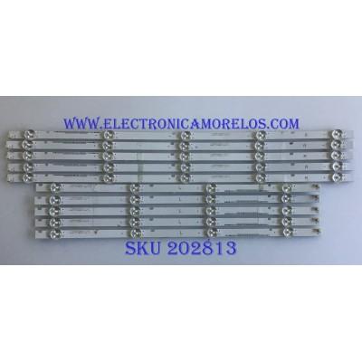 KIT DE LED'S PARA TV VIZIO / I-5000WS80091 / I-500WS80091-R-V3 / I-500WS80091-L-V3 / PANEL T500QVN03-7 / MODELOS E50-F2 LWZ2WYMU / E50-F2