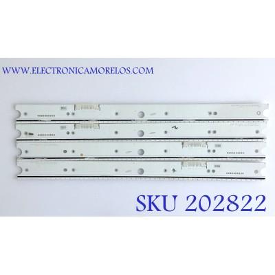 KIT DE LED'S PARA TV SAMSUNG (4 PIEZAS) / BN96-34776A / BN96-34777A / S_5N9_65_SFL_A52_V1.1_151013_LM41-00172T / S_5N9_65_SFL_A52_V1.1_151013_LM41-00172U / PANEL CY-XJ065FLLV2H / MODELOS UN65JS850DFXZA / UN65JS8500FXZA / UN65JS9000FXZA / UN65JS8500FXZC