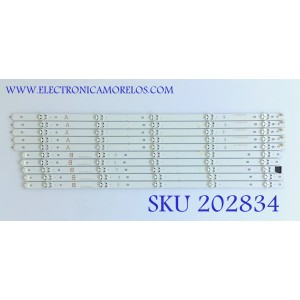 KIT DE LED'S PARA TV VIZIO (10 PIEZAS) / D60-F3 50LED / D60-F3 A_REV00_50LED_171206 / D60-F3 B_REV00_50LED_171206 / PANEL SD600DUA-1 / MODELO D60-F3 LFTRXBLU