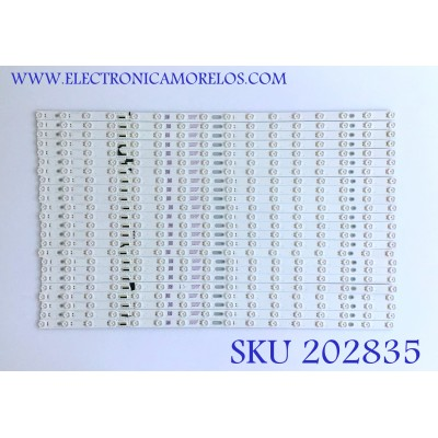 KIT DE LED'S PARA TV VIZIO (24 PIEZAS) / LB65063 / EX65T56005 / 3C200C200 / PANEL T650QVF09.0 / MODELO PQ65-F1 / 74 CM /