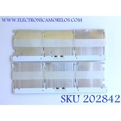 KIT DE LED'S PARA TV SAMSUNG (2 PIEZAS) / BN96-42155A / 42155A / PANEL'S CY-XM055GLAV1H / CY-XM055FLAV2H / MODELOS QN55Q7FAMFXZA / QN55Q8CAMFXZA AA01 / QN55Q7CDMFXZA / QN55Q7FDMFXZA / QN55Q75FMFXZA / QN55Q7FVMFXZA / 60 CM X 20 CM /
