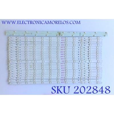KIT DE LED'S PARA TV VIZIO (20 PIEZAS) / M65-F0-V5 / LB65060 / E486558 / 01U68-E / MODELO M65-F0