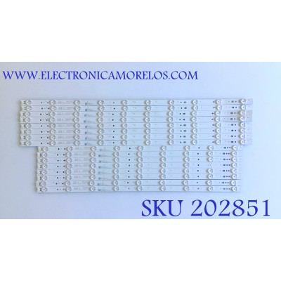 KIT DE LED'S PARA TV JVC (16 PIEZAS) / 30365009205 / 30365009206 / LED65D9-03(A) / 65000M05 / MODELO LT65MA877