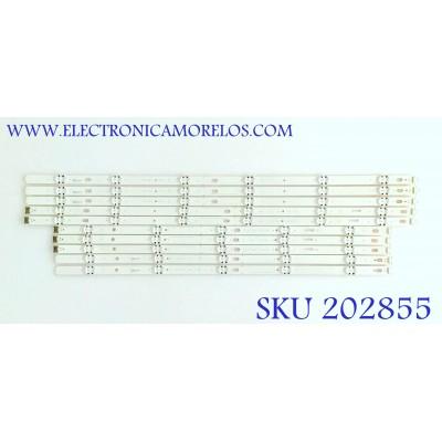 KIT DE LED'S PARA TV LG (10 PIEZAS) / EAV64053901 / EAV64054001 / EAV63994101 / SSC_60UJ63 / 60UJ63_UHD_A / 60UJ63_UHD_B / 60UJ63_UHD_C / 60UJ63_UHD_D / MODELOS 65UK6200PUA / 60UJ6050-UA BUSYLOR