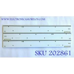 """""""KIT DE LED'S PARA TV SAMSUNG / BN96-32155A / BN96-32156A / 32155A / 32156A / PANEL'S CY-KH075FSLV1H / LSF750FF01-G03 / MODELOS QN75Q9FAMF / UN75HU8550FXZA /   / NOTA IMPORTANTE : KIT CUENTA ORIGINALMENTE 4 PIEZAS ((INCOMPLETO 3 PIEZAS))"""""""