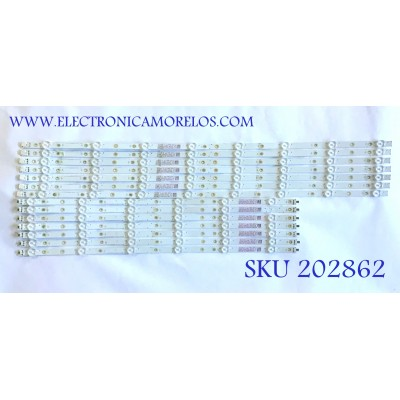 KIT DE LED'S PARA TV VIZIO (14 PIEZAS) / LBM650M0601 / LBM650M0701 / LBM650M0701&0101-HR-1(0)(L) / LBM650M0601-HS-1(0)(R) / PANEL TPT650J1-QUBN90.K / MODELO E65-F1 LTMUWVLU