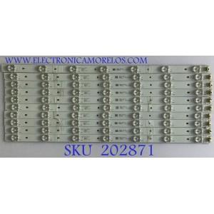 KIT DE LEDS PARA TV ATYME / JL.D50071235-031AS-F / D160725 / 15910 / 26AL / PANEL V500HI1-PE8-C7-12V / MODELOS 500AM7HD / LED50B45RQ 6504-LE50B45-E1