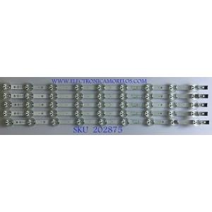 KIT DE LEDS PARA TV LG ( 5 PZ ) / EAV64592101 / LGIT_Y19_TRIDENT_65UM73 / 1A51B / PANEL NC650DQG-AAHX1 / MODELOS 65UM7300AUE / 65UM7300PUA.BUSYDOR