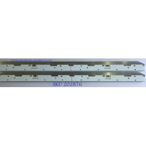 KIT  DE LED'S PARA TV SAMSUNG ( 2 PIEZAS ) / BN9442359A / BN64-14536A / MODELOS QN75Q8CAMKXZL / QE75Q8CAMTXMI / QE75Q8CAMLXXN / QE75Q7FGMTXZG / QE75Q7FAMUXRU / QE75Q7FAMUXCE / QE75Q7FAMTXZT / QE75Q7FAMTXZG / QE75Q7FAMTXXU / QE75Q7FAMTXXH 82 CM