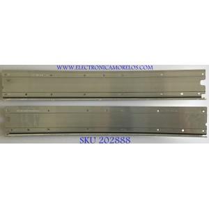 KIT DE LED'S PARA MONITOR AOC ( 2 PIEZAS ) / UK246B3 / Q90B00080200016840 / E19AA0136 / F19AA0137 / PANEL TPM490YP02 REV.301B-A / MODELO AG493UCX / 60 CM X 10 CM /