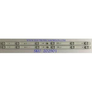 KIT DE LEDS PARA TV INSIGNIA (2 PIEZAS) / JL.D32061330-004AS-M / 4C-LB320T-JF3 / N170826 / PANEL LVW320CSDX E21 V61 / LVW320CSDX E22 V4 / MODELO NS-32DR310NA17