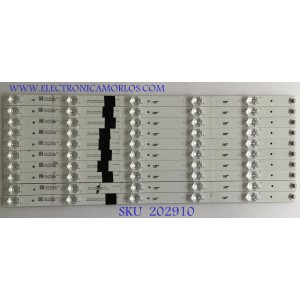 KIT DE LED'S PARA TV PIONEER (10 PIEZAS) / 4C-LB550T-XR2 / CRH-AT55A303010056CNREV1.0 / AT55A303010056CN / M05Y146HB2 / PANEL LC550EY (SK)(M3) / LVU550LGDX /  MODELO 55S08UHD