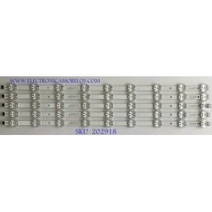KIT DE LED'S PARA TV LG (5 PIEZAS) / EAV64755201 / SSC_Y19_TRIDENT_65UM73 / 21V3B / PANEL NC650DQG-AAHX3 / MODELO 65UM7300AUE 71.3 CM
