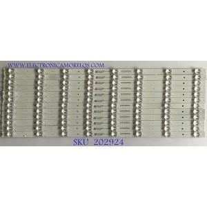 KIT DE LED'S PARA TV VIZIO (12 PIEZAS) / 70401-00933 / SVB650AD5 / SSC-BX65JL63030120895M-REV2.3 / PANEL BOEI650WQ1_H / MODELO M656-G4