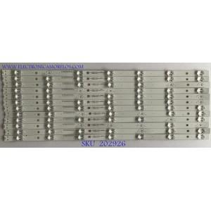 KIT DE LED'S PARA TV VIZIO (12 PIEZAS) / 70401-01012 / SVB650AJ5 / SSC-BX65LD303007128C6-REV1.4 / MODELO M656-G4