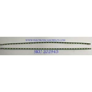 KIT DE LEDS PARA MONITOR LG (2 PIEZAS) / 340MJE REV0.0 / 6916L-2758A / 6916L-2759A / PANEL LM340WW1 (SS)(C1) / MODELO 34WK650-WI.AUSHNPN