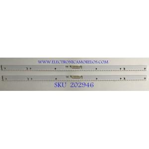 KIT DE LEDS PARA MONITOR SAMSUNG (2 PIEZAS) / BN96-47036A / E8R066 / 47036A / PANEL CY-PN430LNLV1F / MODELO LC43J890DKNXZA FB02