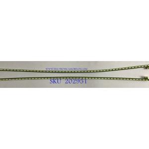 KIT DE LEDS PARA MONITOR LG (2 PIEZAS) / 4H2E22H8YH2D15J1 / 340MHJ REV0.1 / 6916L-2944A / 6916L-2943A / PANEL LM340WW2 (SS)(A1) / MODELO 34UC79G-B.AUSSMPN