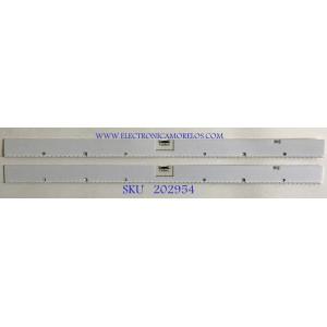 KIT DE LEDS PARA MONITOR SAMSUNG (2 PIEZAS) / BN96-48421A / E2Z008 / 48421A / PANEL CY-PR490LLLV1F / CY-PR490LLLV2F / MODELO LC49RG90SSNXZA FB02