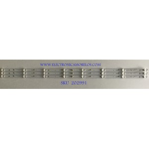 KIT DE LEDS PARA TV HKPRO (3 PIEZAS) / PC64366B / TL43JTX332M08A0 V0 / 035-430-3030-3 / PANEL LVF430CSD0 E1 V54 / MODELO HKP43F16
