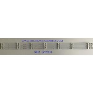 KIT DE LEDS PARA TV SPECTRA (3 PIEZAS) / JL.D40071330-020DS-M / 18BE630D180209 / 4640WW013 / PANEL LVF400XPDX E0001 / MODELO 41-FDSPS