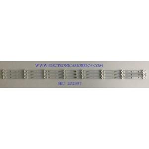 KIT DE LEDS PARA TV PIONNER (3 PIEZAS) / PC64366B / TL43JTX332M08A0 / 035-430-3030-A / PANEL LVF430LGD0 E2 V93