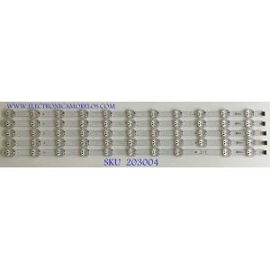 KIT DE LEDS PARA TV LG (5 PIEZAS) / EAV63993102 / LIGIT.TRIDENT.75UK65 / 3PCM0079BA / PANEL NC750DQE-ABGR3 / MODELOS 75UM6970PUB.BUSGLOR / 75UM6090PUB.BUSGLOR