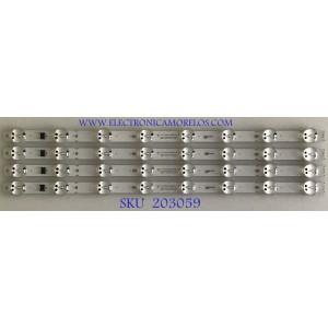 KIT DE LEDS PARA TV LG (4 PIEZAS) / EAV64832901 / SSC_Y19_TRIDENT_55UM73&75 / 26X2C / 180703 / PANEL NC550DQG-ABHX3 / NC550DQG-ABHX1 / MODELO 55UM7300AUE.BUSGDKR
