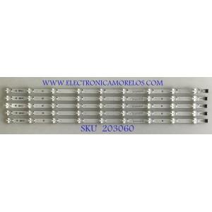 KIT DE LEDS PARA TV LG (5 PIEZAS) / EAV64993001 / SSC_Y19_TRIDENT_65UM73 / 190823 / 24X2B / PANEL NC650DQG-AAHX1 / MODELO 65UM7300PUA.BUSYDKR