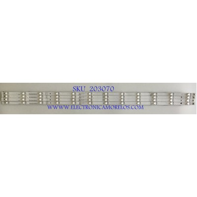 KIT DE LEDS PARA TV HISENSE (4 PIEZAS) / B1 1204650 / CRH-BX50S1U9230T041288V-REV1.1 / SVH500AA7 / PANEL HD500S1U92-L1\S0\GM\CKD\ROH / MODELO 50RGE