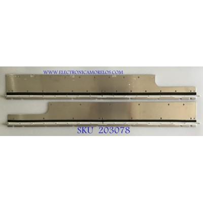 KIT DE LEDS PARA TV SHARP (2 PIEZAS) / K4451TP / K4468TP / TS-S-8V09C / MF0105 N  / MODELO LC-60LE920UN / 80CM X 11CM