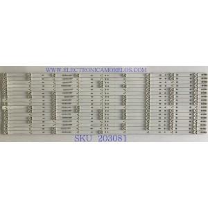 """KIT DE LEDS PARA TV SONY (INCOMPLETO 17 PIEZAS) / SVA650A09_REV04_9LED_140618 / SD65S04E0109EACB51L / PANEL T650QVF06.2 / MODELO XBR-65X850C / NOTA IMPORTANTE: KIT INCOMPLETO CONSTA ORIGINALMENTE DE 18 PIEZAS ((INCOMPLETO SOLO 17 PIEZAS))"""