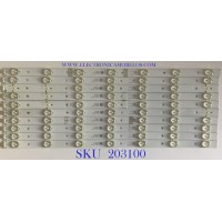 KIT DE LEDS PARA TV RCA / 01.JL.D50071235-031AS-R7N / D160306 / 26AL A4M30 / PANEL T500HVN07.4-12V / MODELO LED50B45RQ 5407