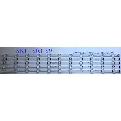 KIT DE LEDS PARA TV LG (5 PIEZAS) / EAV64993201 / SSC_Y19.5_Trident_75UM75_BOE_S / SSC_Y19.5_Trident_75UM75_BOE_REV00_200520 / E469119 / PANEL NC750DQG-ABGR3 / NC750DQH-ABHR1 / MODELO 75UN7070PUC / 75UN8570AUD
