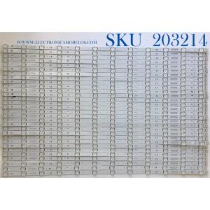 KIT DE LED'S PARA TV LG (30 PIEZAS) / NUMERO DE PARTE EAV64593001 / SSC_SLIMDRT_75SM90_S / Y19_SLIM_DRT_75SM90_CASE K_180904 / PANEL NC750DQD-AAHH1 / MODELOS  75SM9070PUA / 75SM9070PUA.BUSYLJR / 75UN6950ZUD