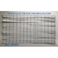 KIT DE LED'S PARA TV TCL (20 PIEZAS) / NUMERO DE PARTE TCL-75R6_LD_L-3030-LX20180911 / YHF-4C-LB7516-YH02J / TCL-75R6_LD_L-3030-LX20180911 VER.3 / PANEL LVU750NDBL / MODELO 75R615