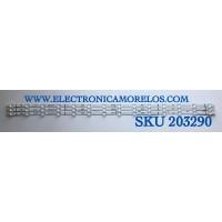 KIT DE LED'S PARA TV HISENSE (3 PIEZAS) / NUMERO DE PARTE LB5009N / LB5009N V0 / HD500X1U92-T0L3-2020032601 / PANEL HD500X1U92-T0L3/S0/GM/R0H / MODELO 50R6090G5
