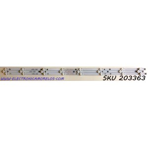 KIT DE LED'S PARA TV  ELEMENT (3 PIEZAS) / NUMERO DE PARTE 303KK400033 / KSKK40D08-ZC22AG-03 / KK400M05 / PANEL MD4012YTSF / MODELOS ELFW4017BF / ELST4017 J7G5M
