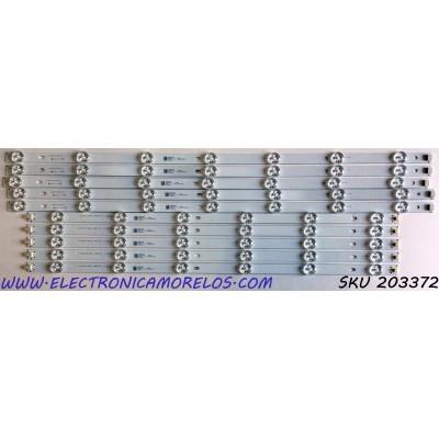 KIT DE LED'S PARA TV KONCHRIS (10 PIEZAS) / NUMERO DE PARTE JL.D550D1330 / JL.D550D1330-083AR-M / JL.D550D1330-083AL-M / 18AM230 / N161025 / P.02. 30305516 / P.02. 30305517 / PANEL LSC550FN18 / MODELO CME55N99