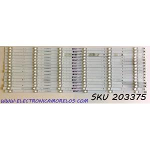 KIT DE LED'S PARA TV VIZIO (16 PIEZAS) / NUMERO DE PARTE SSC-F75JL63030061693F / SSC-F75JL63030061693F-REV1.2 / SVB750A46 / PANEL BOEI750WQ1-H / MODELOS V755-G4 / V755-G4 LBNFQQBW / V755-H4