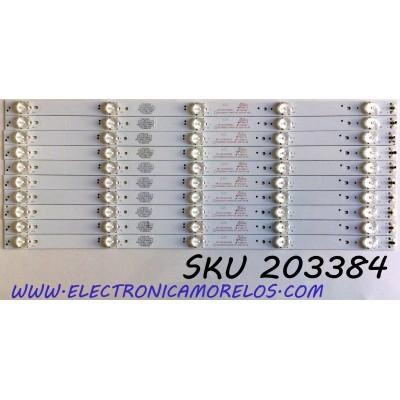 KIT DE LED'S PARA TV ELEMENT (10 PIEZAS) / NUMERO DE PARTE 303TH500052 / TFGJ50D05-ZC14FG-05 / TH500M22 / 910-500-1047 / PANEL T500-16A-DLED / MODELOS ELST5016S / ELST5016S B6A2M / C6A2M / C6A9M / D6A2M / ELST5016S E6A9M / E6C0M / F6C0M / G6C0M