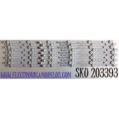 KIT DE LED'S PARA TV ELEMENT (10 PIEZAS) / NUMERO DE PARTE 303TH550073 / TFMT55D06-ZC22AG-03 / TH550M25 / 112600111 / PANEL T550-V35-DLED / MODELO E4J5517BF
